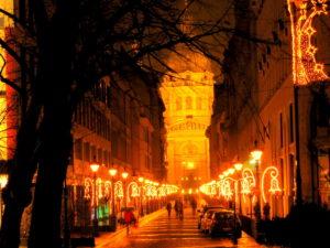 Огни вечернего Будапешта