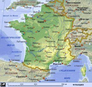 Карта Франции