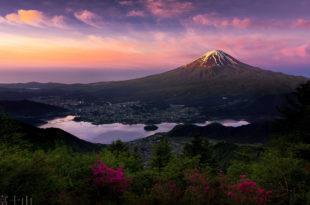 Гора Фудзияма (Фудзи) — такой же символ Японии, как и восходящее солнце.