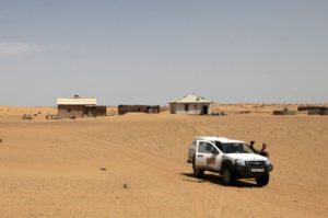 На машине по пустыне