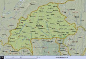 Карта Буркина-Фасо