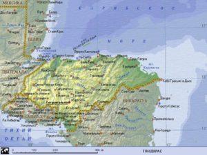 Карта Гондураса