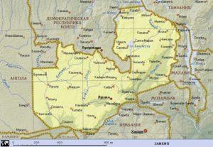 Карта Замбии