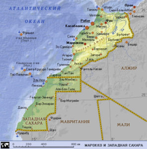 Касабланка на карте